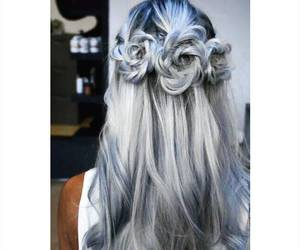 hair, fashion, and blue image