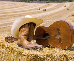 boots, country, and cowboy hat image