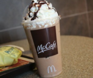 McDonalds, coffee, and mccafe image