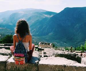 girl, travel, and boho image