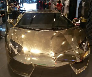 car, golden, and Lamborghini image