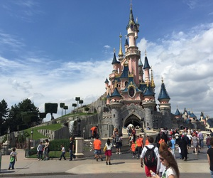 castle, disneyland, and paris image