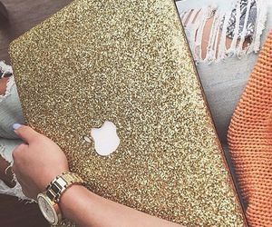 apple, gold, and glitter image