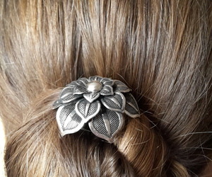 Dutt, flower, and hair image