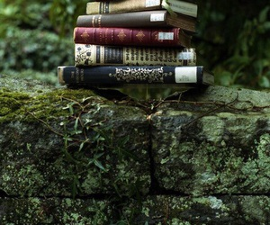 book, nature, and reading image