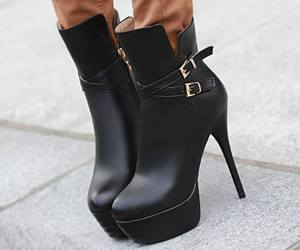 booties, colored hair, and fashion image