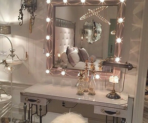 beautiful room, light, and pink&white image