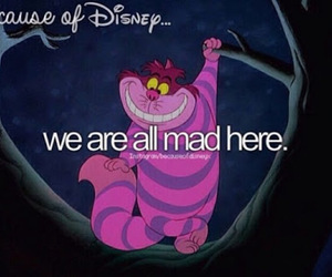 disney, alice in wonderland, and mad image