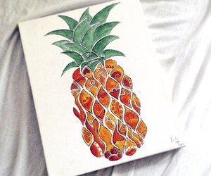 art, hipster, and pineapple image