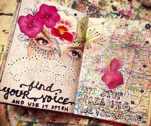 art journal, art journaling, and art journal page image
