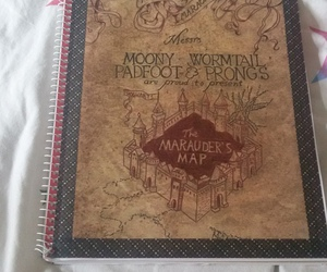 diy, harry potter, and marauders map image