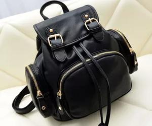 black, backpack, and bag image