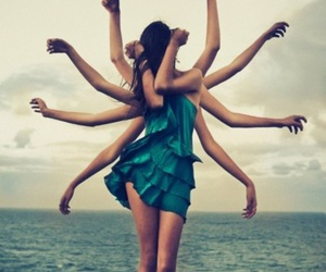 arms, beach, and girl image