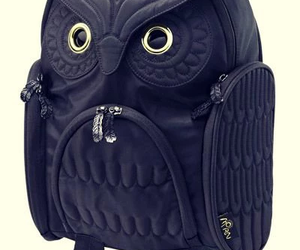 owl, black, and backpack image