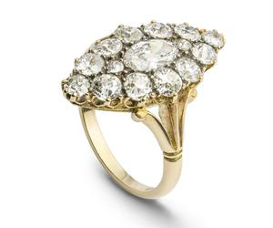 diamond, victorian, and cluster ring image