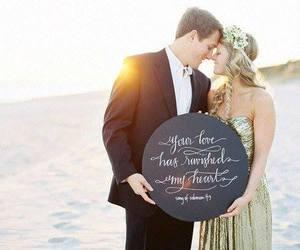 beach, girlfriend, and groom image