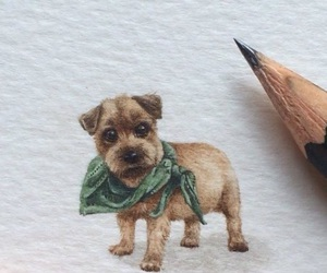 animals, art, and dog image