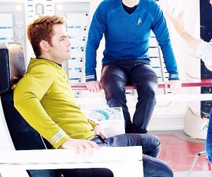 star trek, chris pine, and spock image
