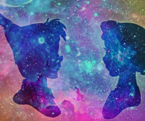 couples, disney, and galaxy image
