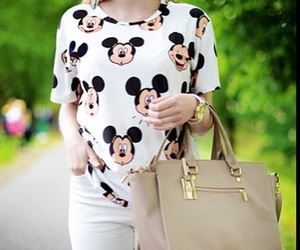 fashion, mickey, and clothes image