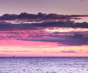 pink, sea, and clouds image