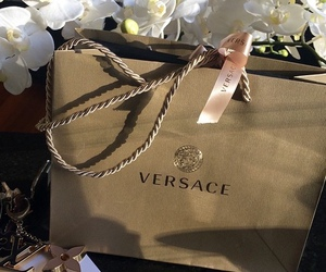 Versace, luxury, and shopping image