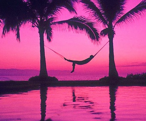 pink, beach, and summer image