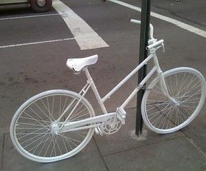 white, bike, and pale image
