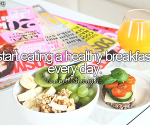 breakfast, healthy, and bucketlistforgirls image