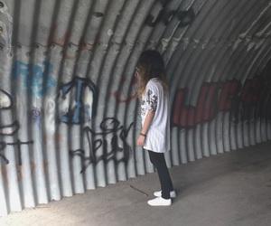 grafiti, grunge, and hair image