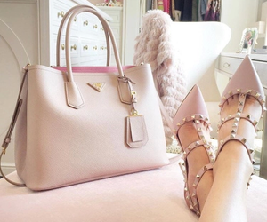 bags, fashion, and high shoes image