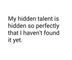 talent, funny, and quote image