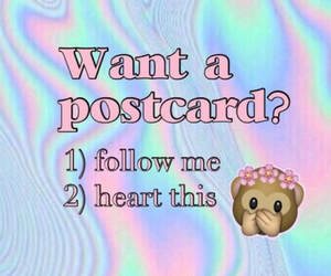 heart, postcard, and emoji image