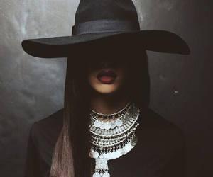 black, hat, and dark image