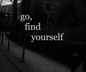 yourself, find, and go image
