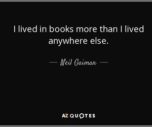 books, Neil Gaiman, and quote image