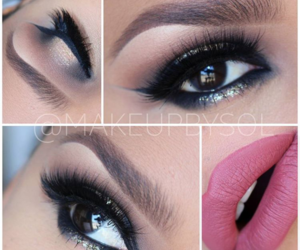 black, pink, and cat eye image
