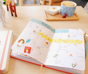cute, agenda, and notebook image