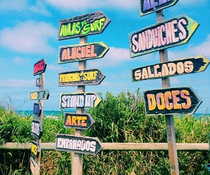 colorful, tumblr, and signs image