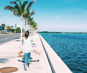 cycling, girl, and summer image