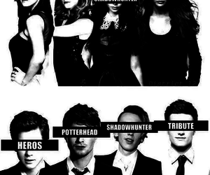 harry potter, hunger games, and the mortal instruments image
