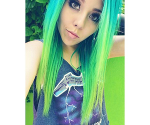 blusa, enchanted forest, and green hair image