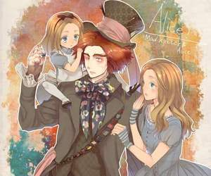 alice in wonderland, anime, and mad hatter image