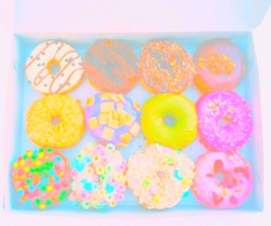 donuts, pastel, and yummy image