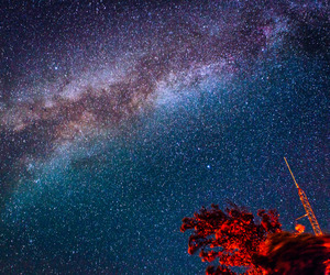 galaxy, sky, and hipster image