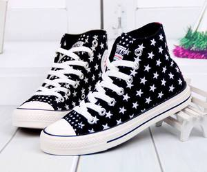 stars, shoes, and white image