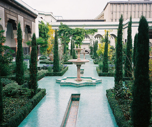 garden, house, and luxury image