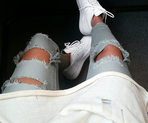 style, nike, and jeans image