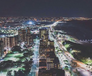 beach, city, and citylights image