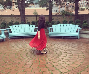 babes, maxi skirt, and beautiful places image